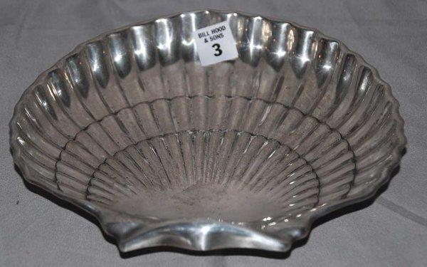 "3: Shell Form Sterling Silver Bowl, 14oz, 9""L x 1 1/2""h"