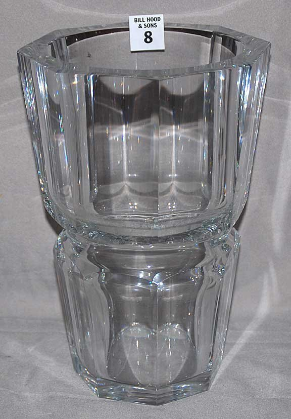 """8: Heavy and large Baccarat Vase 10""""h x 6"""