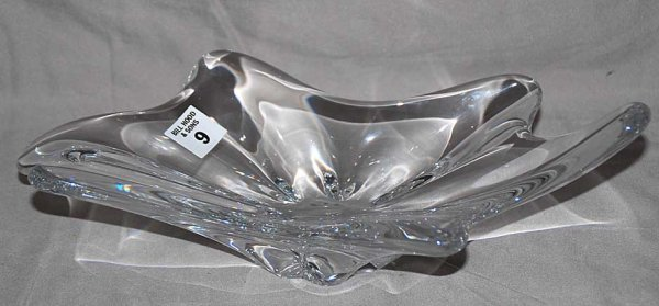 """9: Baccarat free form vase, 13""""L x 3 1/2""""h"""