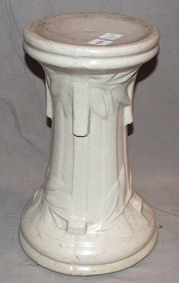 "19A: McCoy American Pottery pedestal, 13"" h"