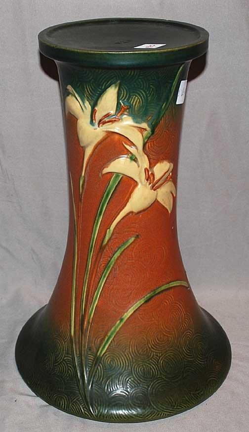 "19C: Roseville American Pottery pedestal, 17""h"