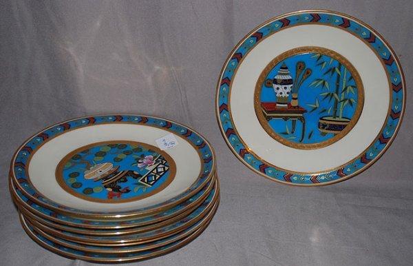 77: 8 Minton plates, Caldwell and Co. Philadelphia, wit