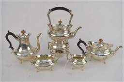 Sterling Silver 5 pc Coffee Tea Set  Monogrammed with