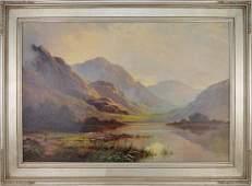 Thomas C Blake UK Born 1890 Mountain Landscape oil
