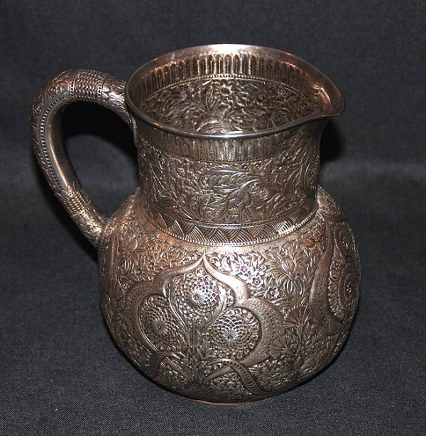 1137: Tiffany sterling water pitcher , marked Tiffany &