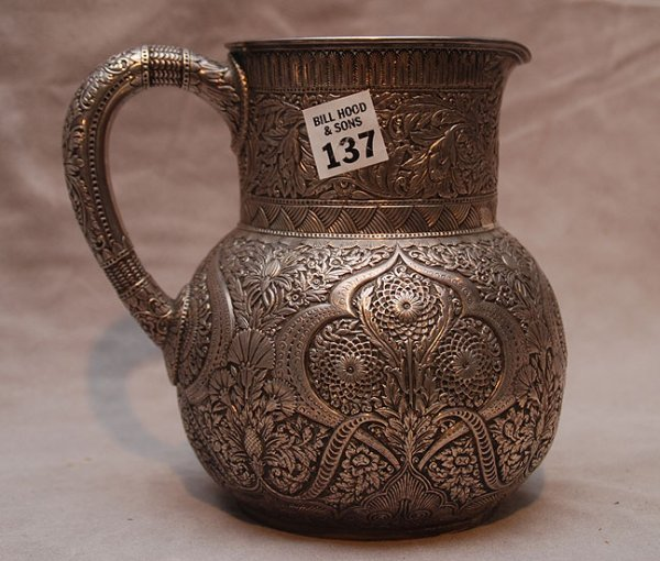 1137: Tiffany sterling water pitcher , marked Tiffany & - 2