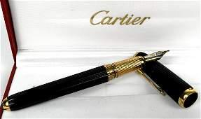 CARTIER LOUIS CARTIER 18K GOLD NOIR COMPOSITE FOUNTAIN