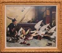 Italian School, oil on canvas, by A. Stevens, Children