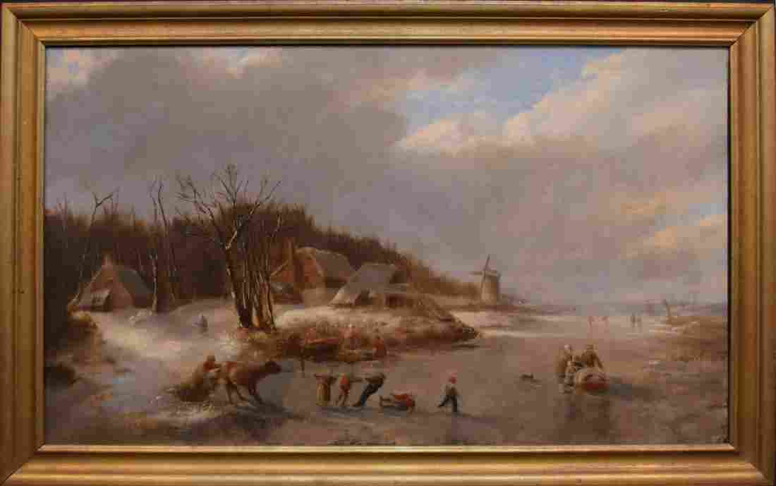 Attributed to: Anton Dolli (CA 1860s) oil on canvas,