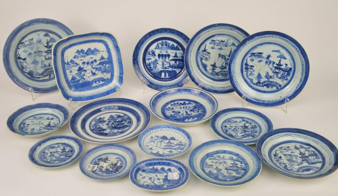 Group of Antique Chinese Canton Plates