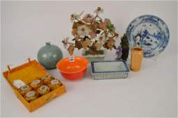 Lot Antique Chinese Porcelain Articles with  2 Hard