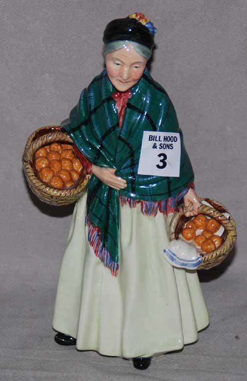 "3: Royal Doulton figure ""The Orange Lady"" HN 1953, 8 1/"