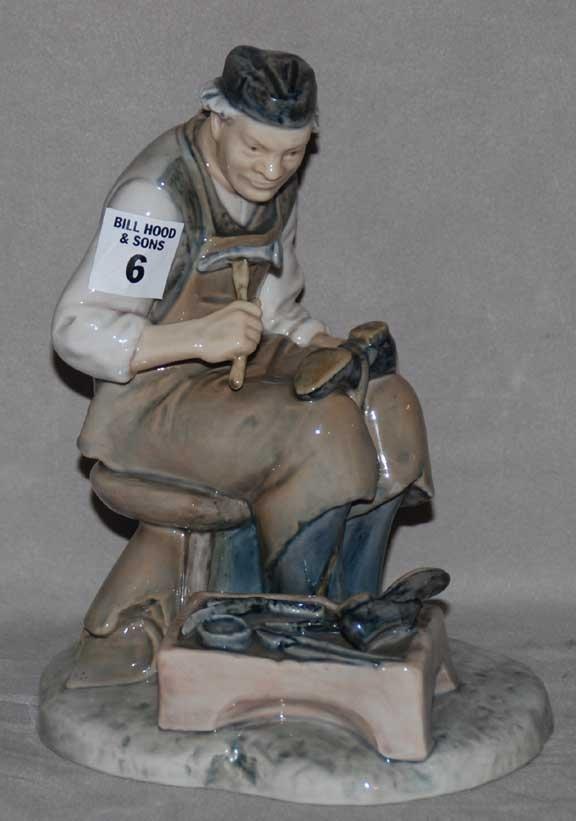 """6: B & G figure, a cobbler #2228, 7 1/2""""h"""