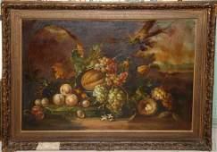 257: Pannetti, Italian School, oil on canvas, still lif