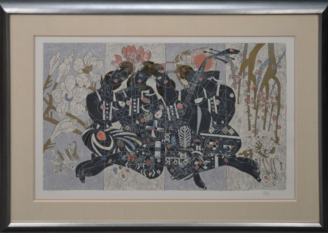 Tie-Feng Jiang (Chinese b.1938) Lithograph, Untitled,