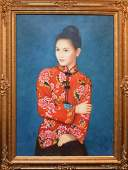 Contemporary Chinese Painting oil on canvas, young
