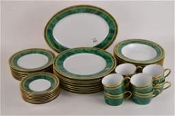"Christian Dior china set,  ""Malachite"", 8 Dinner Plates"