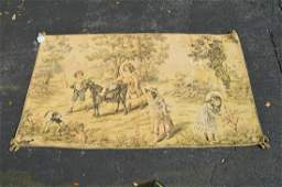 Vintage Tapestry with Horizontal Hanging Braided