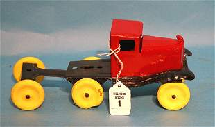 "Girard 1920's tin truck, 4 1/2""h x 10 1/2""l"