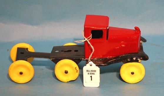 "1: Girard 1920's tin truck, 4 1/2""h x 10 1/2""l"