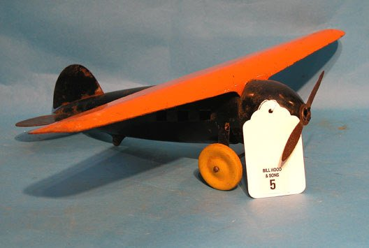"""5: Wyandone Lucky Lindy 1930's Plane, 18"""" wing span"""