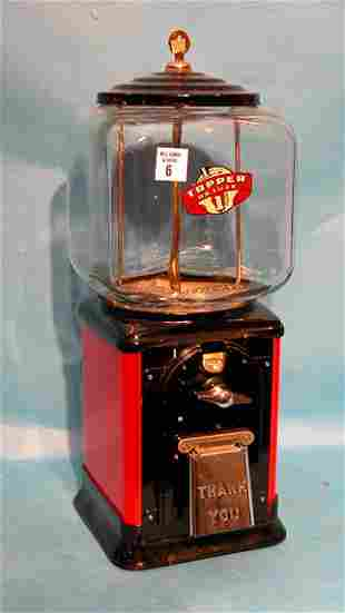 Topper, 40's and 50's, $0.01 vending machine with ke