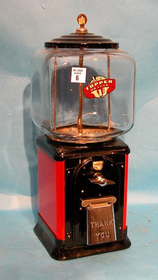 6: Topper, 40's and 50's, $0.01 vending machine with ke