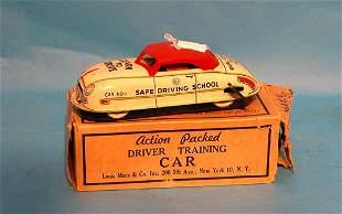 """Marx Driver Training Car in box, 6 1/2""""l"""