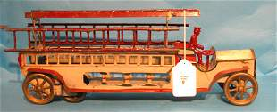 """""""Schieble"""", fire truck with driver, fly wheel, 21 1/"""