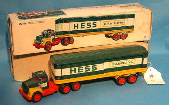 """11: """"Hess"""", 1975 truck, box has some water stains and d"""