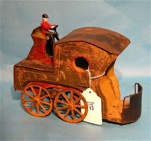 """Clark"" 1890 Up-hill climber wood and tin, horseles"