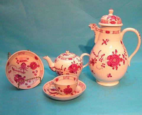 23: Tea service 20 pcs., Meissen mark, incl: (9) Demita