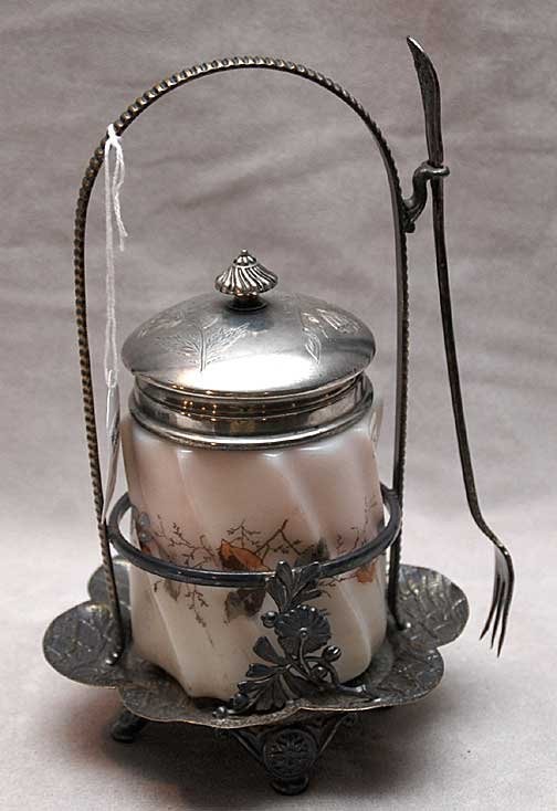 10: Victorian silver plated pickle caster by Simpson Ha