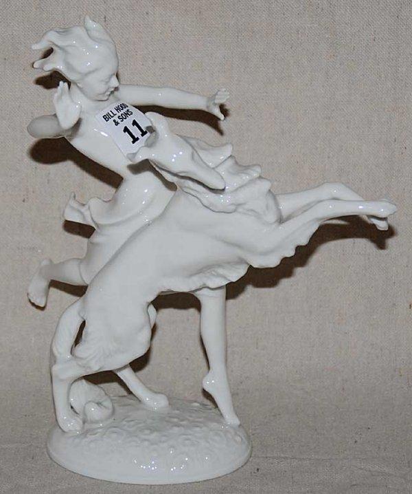 1011: Hutchenreuther mythological horse and rider, 8 1/