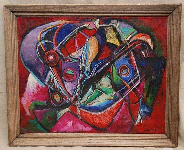 1172: Ralph Scarlett, 1889-1984, N.Y.N.Y, oil on canvas