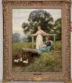 056C: Henry John Yeend King (British, 1855-1924) oil on
