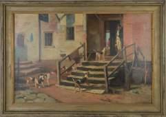 19th Century English School signed J. Redmond, oil on