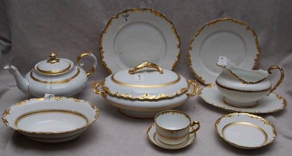 """1: 45 pieces """"T & V""""  France, Pitkin and Brooks, Chicag"""
