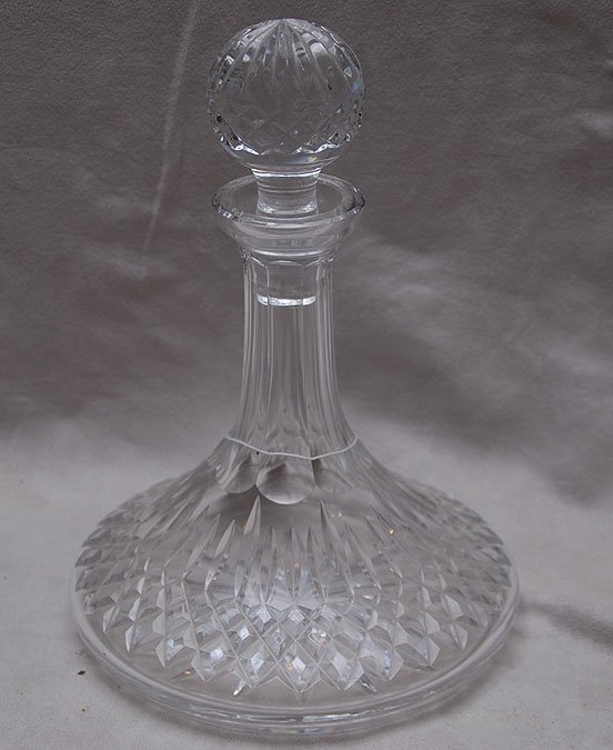 """18: Waterford ships decanter, 10""""h"""