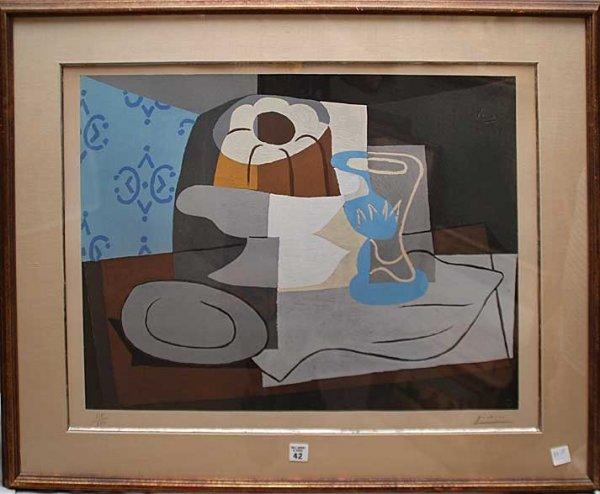 42: Pablo Picasso (SPANISH, 1881-1973) Lithograph, Stil