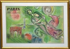 Marc Chagall lithograph limited edition on woven