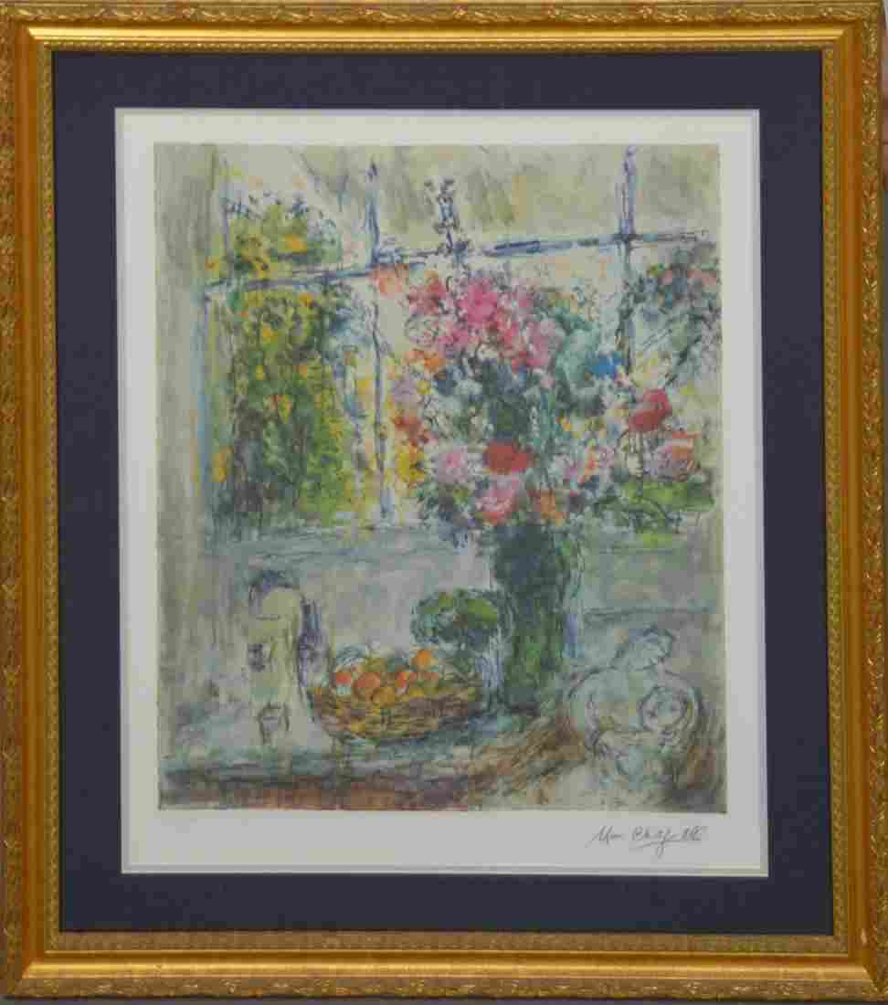 """Marc Chagall limited edition framed print """"Fruit &"""
