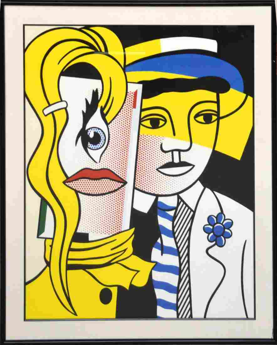 Roy Lichtenstein STEPPING OUT - 1977.  Lithograph,