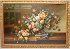 Francois Gabriel France 1893  1993 Large Oil on