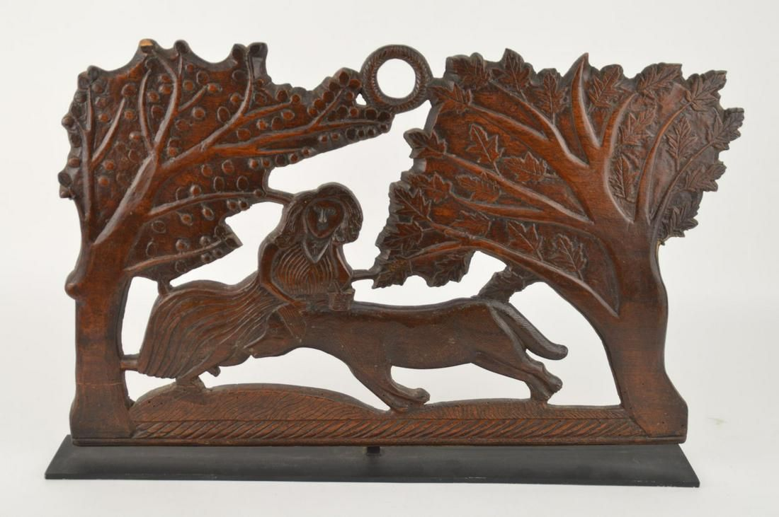 Continental Antique Carved Panel in Custom Stand