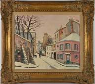 Charles Feola French 19171994 oil on canvas Winter