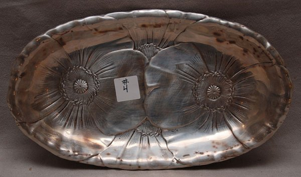 4: Wallace sterling floral decorated bread tray, 10 oz.
