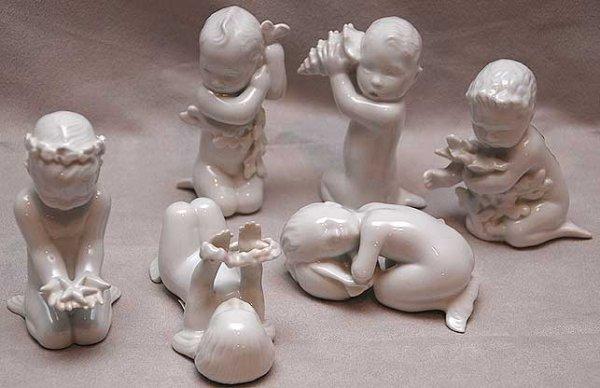 "5: 6 B & G figurines: tallest 4"", smallest 1 1/2"""
