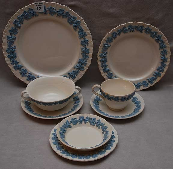 "12: 112  pieces of  Wedgwood ""Etruria"" dinner service i"