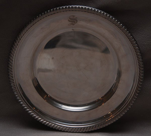 "17: 12 Gorham sterling butter plates, 34oz, 6""dia"